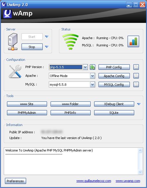 WAMPSERVER (32 BITS PHP 5.4 2.4 GRATUIT